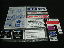 MK2 ESCORT GHIA RS2000 COMPLETE UNDER BONNET DECAL KIT