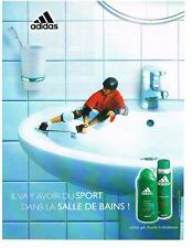PUBLICITE  ADVERTISING  2001 ADIDAS   DEODORANT  GEL DOUCHE               040213