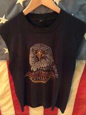 Vintage Harley Davidson cutoff shirt 80s biker tee 70s 3D emblem retro eagle