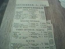 news item 1935 september 5th football results