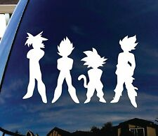 "Dragon Ball Z DBZ Car Window Vinyl Decal Sticker 5"" Goku Vegita Super Saiyen"