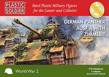20MM GERMAN PANTHER AUSF A WITH ZIMMERIT  - PLASTIC SOLDIER COMPANY - WW2 TANK