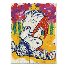 """TOM EVERHART's """"WHO PLACED THE WAKE UP CALL"""" SNOOPY LINUS LE LITHOGRAPH SOLD OUT"""