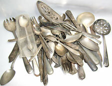 VTG LOT 4 TO 5 LB SILVER PLATE FLATWARE SPOON KNIFE FORK CRAFTS JEWELRY SCRAP