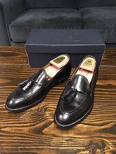$558 Alden For Brooks Brothers Tassel Loafers Black Calfskin Size 9.5 D