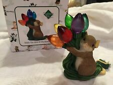 """Charming Tails """"ENJOY THE GLOW OF THE SEASON"""" SIGNED CHRISTMAS LIGHT FITZ FLOYD"""