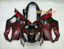Injection Red Flames Black Plastic Fairing Fit for HONDA 1999-2000 CBR600 F4 a06