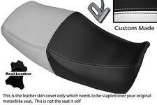BLACK & WHITE CUSTOM FITS YAMAHA XJR 1200 95-99 1300 98-01 DUAL SEAT COVER