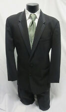 Black Chaps Ralph Lauren Hudson 2 Button 100% Wool Prom Tuxedo w/ Pants 50L