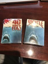 Wild Rare Sold Out 40 Years Of Fear JAWS Bicycle Playing Card Set!