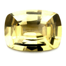 Certified Unheated Natural 0.82ct Ceylon Yellow Sapphire, Cushion Shape