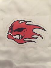 Flaming Red Skull Decal Sticker