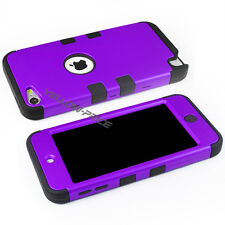 For iPod Touch 6 5 Case Heavy Armor Duty Full Protective Skin Triple LayerPurple