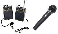 Pro WLM H XLR M wireless lavalier + handheld mic for Panasonic AF100 AC130 AC160