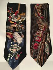 Tabasco Ties 2 Neckties Silk Rollercoaster Cookout Business Novelty Mens Tie