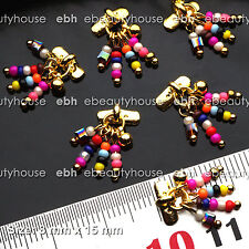 5 Pcs 3D Nail Art Gold Pearl Alloy Charms Decorations Jewelry Rhinestone #EH-234