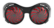 POST #APOCALYPTIC BLACK SPIRAL GLASSES SUNGLASSES HALLOWEEN ACCESSORY