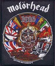 OFFICIAL LICENSED - MOTORHEAD - 1916 SEW ON PATCH METAL LEMMY