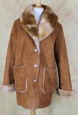 County Clothing CO Cheyenne Col Faux Cowhide Fur Jacket Sz M L Adorable Western