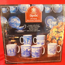 SPODE MUGS 6 IN BOXED SET Blue Room Collection NEW NEVER USED England