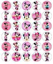 Minnie Mouse Disney Cupcake TOPPERS PAPIER DE GAUFRETTE comestibles acheter 2 obtenez 3e gratuitement!