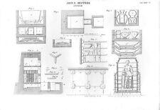 Stampa antica PRODUZIONE STOVIGLIE numerose attrezzature 1848 Old print