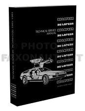 DeLorean Shop Manual 1981-1982-1983 DMC De Lorean Repair Service