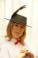 New Ladies Victorian/Mary Poppins/Period Themed Costume Fancy Dress Hat