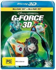 Disney's G-FORCE (3-D , 3D & 2D)   Blu Ray - Sealed Region B & for UK