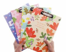 A4 Flowers Document File Clipboard Metal Clip Thick Paper Writing Hard Pad Board