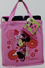 Disney Minnie Mouse Pink Silk Touch Throw/Blanket & Canvas Tote Bag NWT