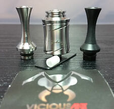 Vicious Ant Cyclone AFC w/ SS & Black Stinger Drip Tips ALL NEW & AUTHENTIC!