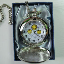 10th Dr Doctor Who Working MASTER'S FOB Metal POCKET WATCH with Gift Box