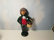Byers Choice 1996 Traditional Teen Boy with Holiday Basket of Kindling