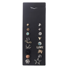 Fashion Jewelry Multi Styles Love Ear Stud Women Crystals Flower Earrings Set