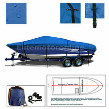 Donzi 16 Classic Trailerable All Weather Fishing Boat Cover Blue