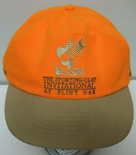 SPORTING CLAY PIGEON SHOOTING INVIATIONAL Flint Oak HUNTING ORANGE Snapback Hat