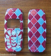 Nokia 3410 Red Diamond Fascia/Housing/Cover. Includes Keypad.