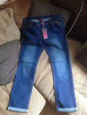 TG Denim Stretchy Jeans Slim Fit Boyfriend Look Size 18 Leg 33