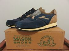 VTG 1980s Mason Shoes Co. Athletic Running Sneakers NEVER LACED UP Size 10D NOS