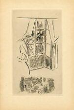 """""""L'ASSASSINAT CONSIDERE COMME UN DES BEAUX-ARTS"""" Eau-forte par Gus BOFA (1930)"""