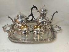 4 pc + Tray Silver Plated Teapot Set   ref 2331
