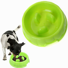 Large Pet Dog Cat Slow Down Eating Feeder Choke-proof Feed Bowl Dish 18x 5cm