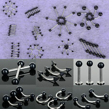 CH 50PC Wholesale Lots Body Piercing Tongue Belly Lip Eyebrow Nose Barbell Rings