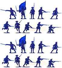 Accurate British Inf set #2 - 20 unpainted 54mm toy soldiers in dark blue color