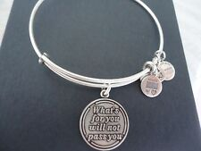 Alex and Ani WHAT'S FOR YOU  Russian Silver Charm Bangle New W/ Tag Card & Box