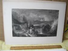 Vintage Print,PARTING OF HERO+LEANDER,Turner Gallery,Turner,19th Cent,D.Appleton