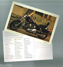 1998 Harley-Davidson FXDL DYNA LOW RIDER Photo Post Card: FREE SHIPPING PostCard