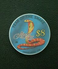 regent  las vegas chinese new year of the snake  $8 casino chip unc
