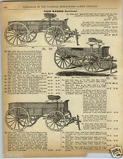 1892 PAPER AD 2 Sided National Pacific Coast Great Western Fish Bros Farm Wagon